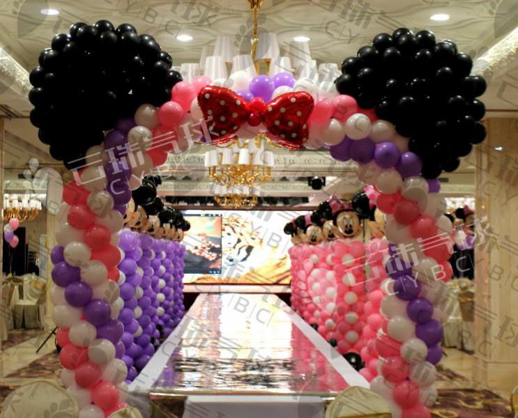 供应米奇主题百日宴/气球装饰宝宝宴/创意百日宴/气球宝宝宴