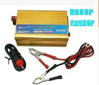 供应防反接逆变器黄金色600W逆变器 防反接6重保护逆变器 智能温控风扇