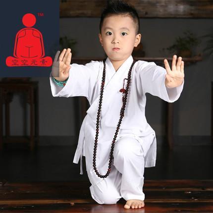供应空空元素儿童武术服 泰国棉麻汉服改良练功服瑜伽打坐服9052