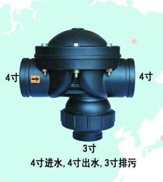 供应km58p-443过滤器用卡箍反冲洗阀 盘式过滤器用二位三通隔膜阀图片