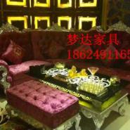 郑州售楼部沙发茶几组合 欧式布艺图片