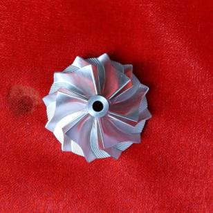 五轴高端精密制造增压器整体叶轮图片
