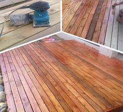 室外防腐木地板做法_