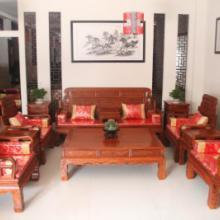 供应六合同春红木沙发/花梨木中式客厅/实木沙发组合/七件套仿古家具