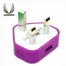 供应英规充电头USB电源头英规5V500mA三角英规插头充电器香港通用配件批发