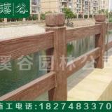 厂家批发仿木栏杆护栏 仿主竹藤栏杆 仿竹栏杆施工队现场施工