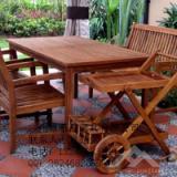 供应庭院家具-实木桌椅-户外实木花箱-户外实木休闲桌椅