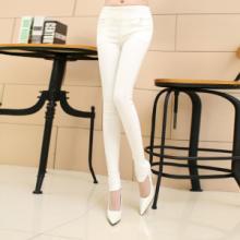 供应哪里有最新款水洗牛仔裤批发零售韩版时尚修身小脚裤高腰铅笔裤女