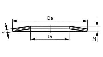 供应鞍形垫圈,DIN2093