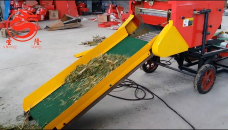 供应自动喂料式饲草青贮打捆包膜机,畜牧养殖专用设备
