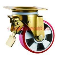 供应TF中重型铝芯聚氨酯万向带刹车脚轮-铝芯PU轮批发商-生产厂家价格