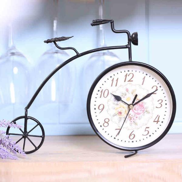 供应家之炫铁艺创意时尚静音自行车座钟