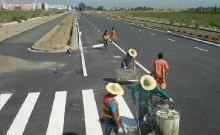 供应公路标线,公路标线材料,公路标线施工图片