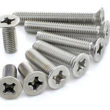 供应不锈钢平机螺丝平头十字沉头螺钉图片