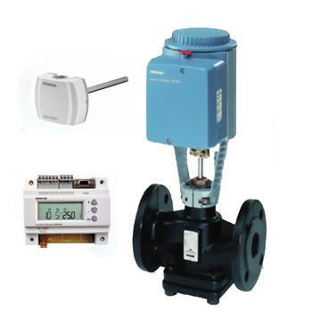供应西门子电动蒸汽温控阀VVF45阀体/采用平衡式结构阀体/西门子执行器