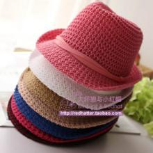 供应夏天女士太阳帽防紫外线 韩版遮阳帽子 防晒沙滩帽草帽 帽子批发