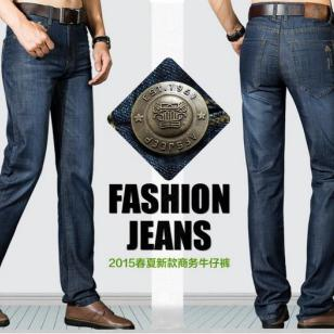 韩版都市直筒休闲男式牛仔裤价格图片