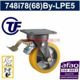供应重负荷欧款双轴铝芯PU刹车脚轮欧款-台湾脚轮厂驻中国大陆分厂