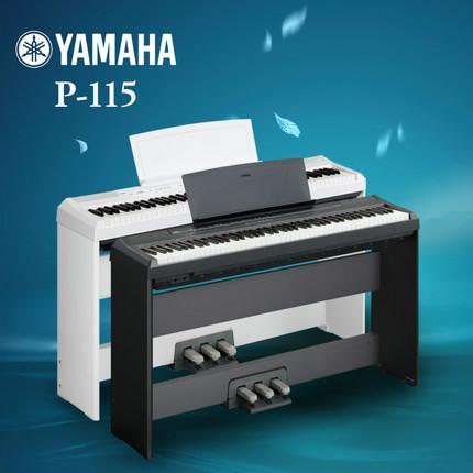 电钢琴p115键盘:88键ghs键盘,黑键表面磨砂处理力度曲线:重,标准,轻图片