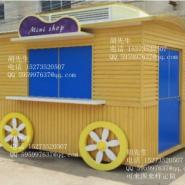户外移动景观售货车,防腐木售卖亭图片