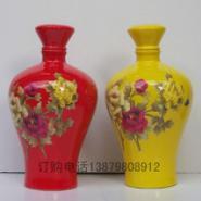 5斤装陶瓷酒瓶中国红梅瓶厂家批发图片