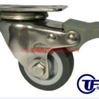 供应TF2寸不锈钢TPR塑料刹车脚轮-广东不锈钢静音耐磨防穿刺轮制造商