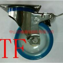 SUS304不锈钢全聚氨酯万向轮图片